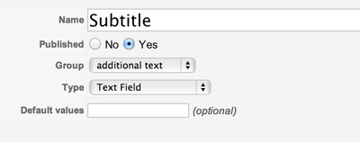 create extra fields