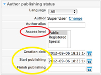 author publishing status
