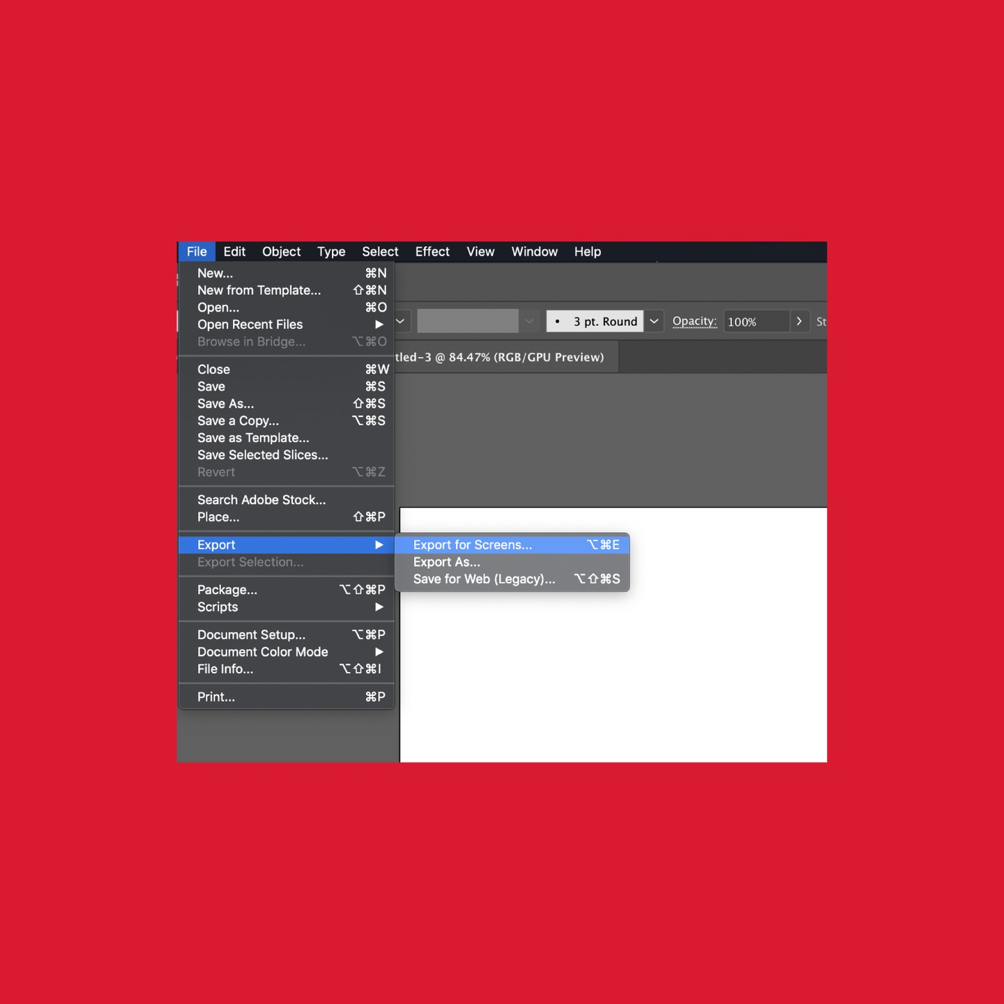 How to Export for Web using Illustrator