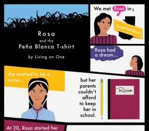Living On One – Rosa Comic and Infographic