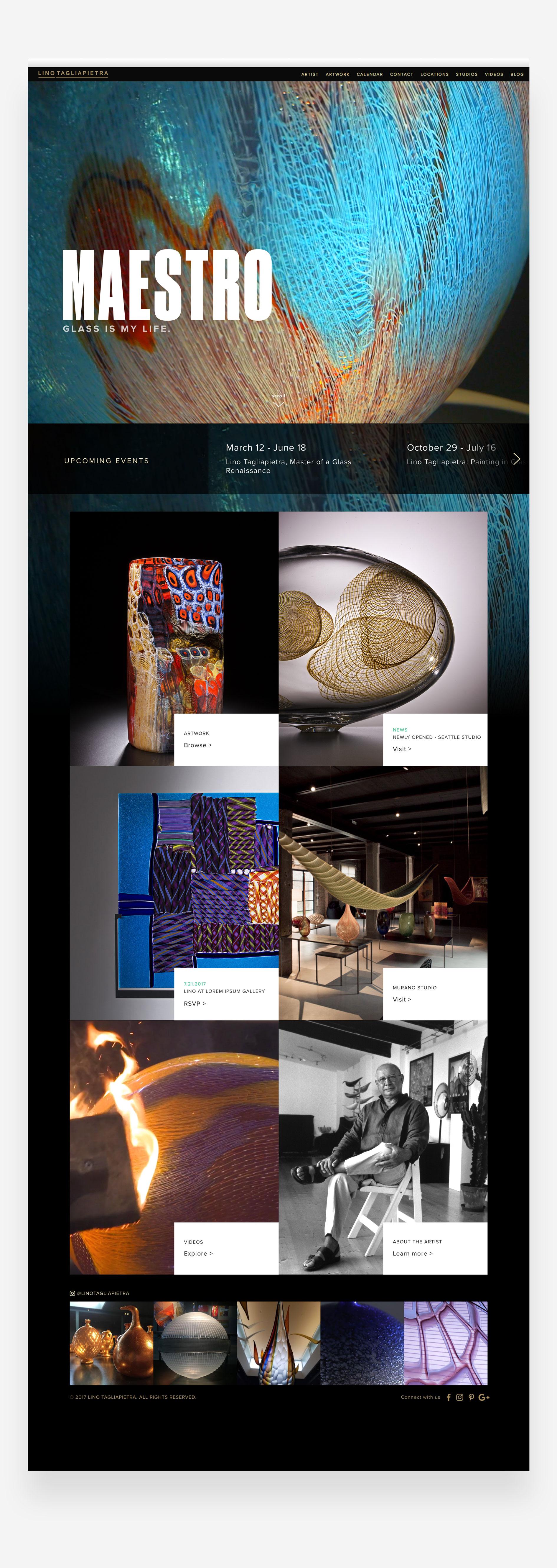 Lino Tagliapietra new home page