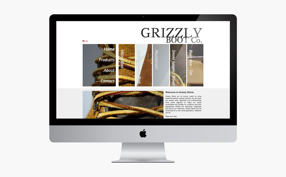 Grizzly Boot Company Website