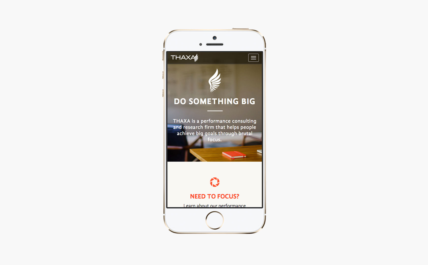 THAXA Consulting Mobile Layout