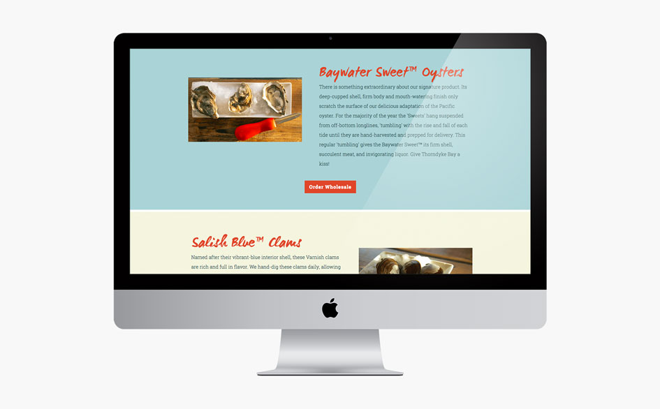 Baywater Shellfish Products Page