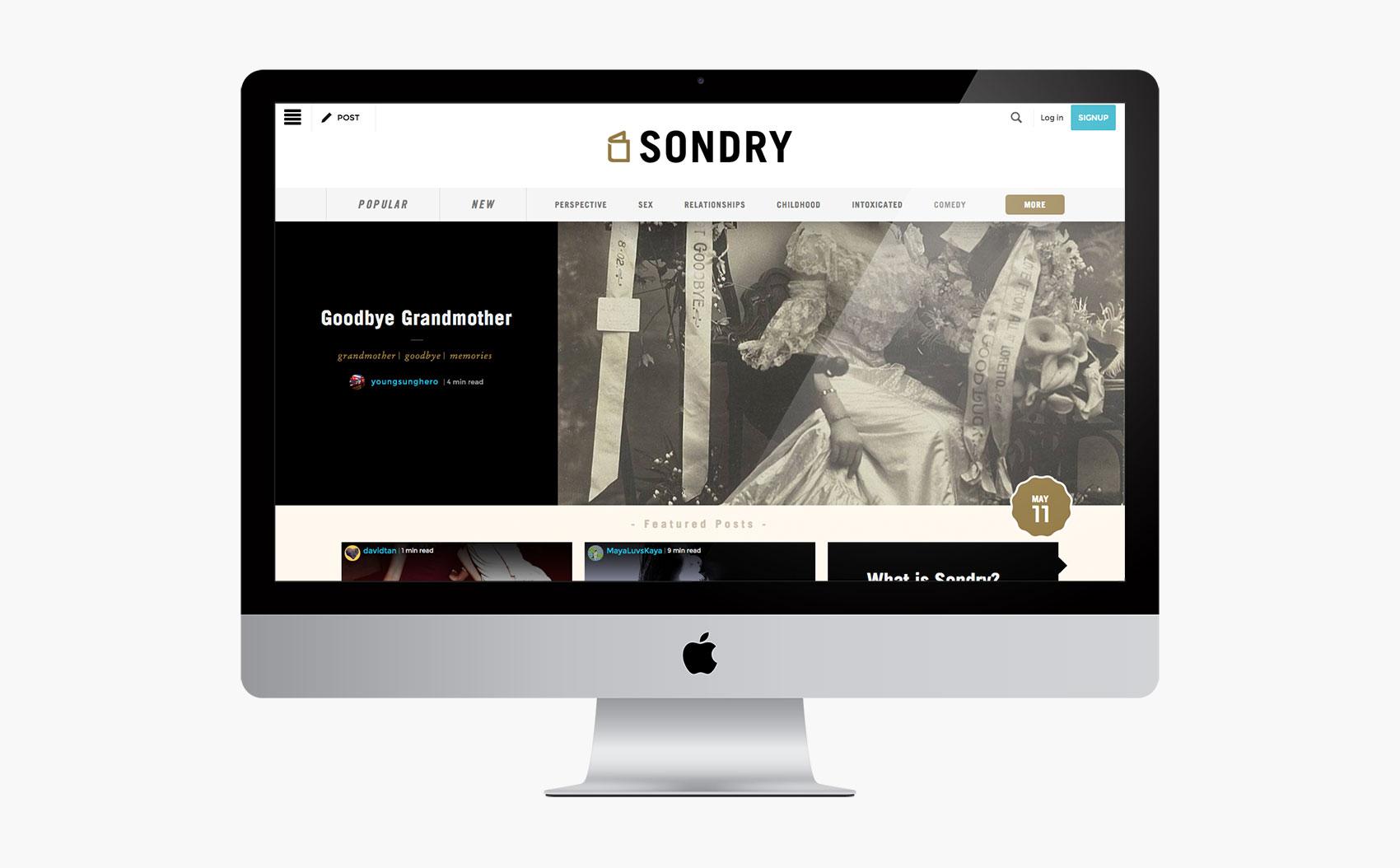 Sondry Home Page