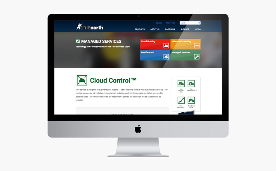 True North Cloud Control Page