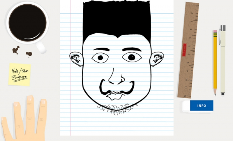 <p>We like to doodle at Y-Designs, so we created Mix Face as an excuse to draw at work. Click on the grey arrows to mix faces. Feel free to shoot us an email if you an have idea for more faces.</p>