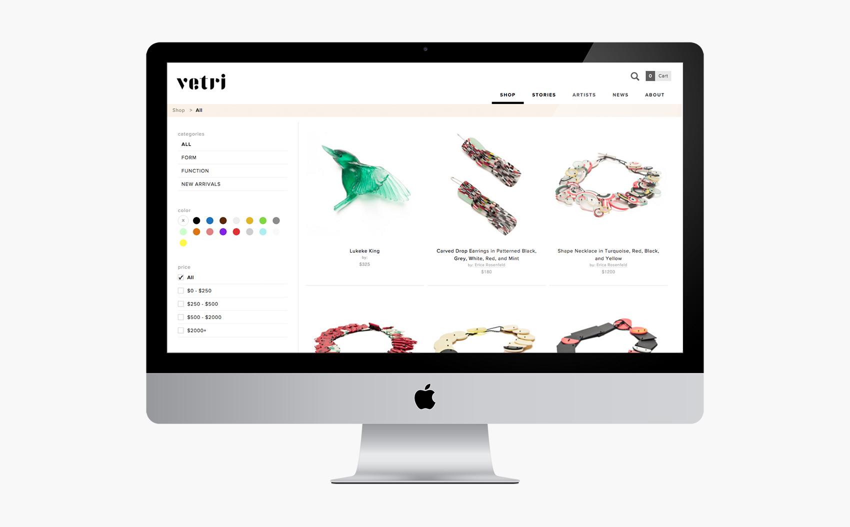 Vetri Shop Listing